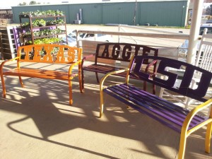 team metal benches 300x225 Patio Furniture is Here!