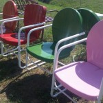 bellaire vintage style metal chairs