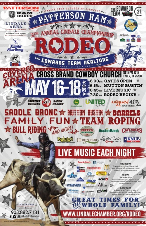 lindale championship rodeo poster e1557762630440 Lindale Championship Rodeo 2019